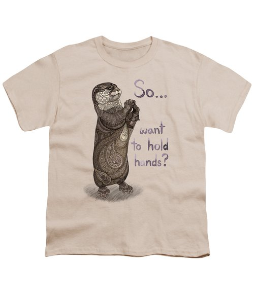 Otter Valentine Youth T-Shirt by ZH Field