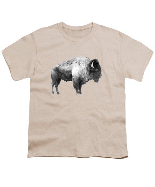 Plains Bison Youth T-Shirt by Jim Sauchyn