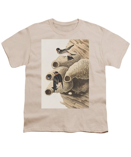 Republican Or Cliff Swallow Youth T-Shirt by John James Audubon