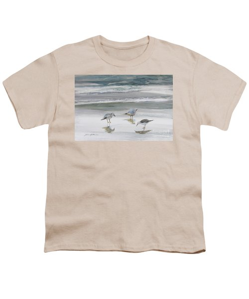 Sandpipers Youth T-Shirt by Julianne Felton