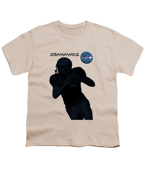 Seattle Seahawks Football Youth T-Shirt by David Dehner