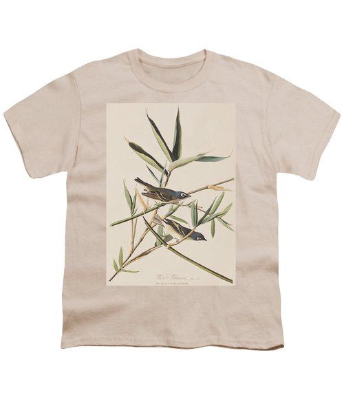 Solitary Flycatcher Or Vireo Youth T-Shirt by John James Audubon