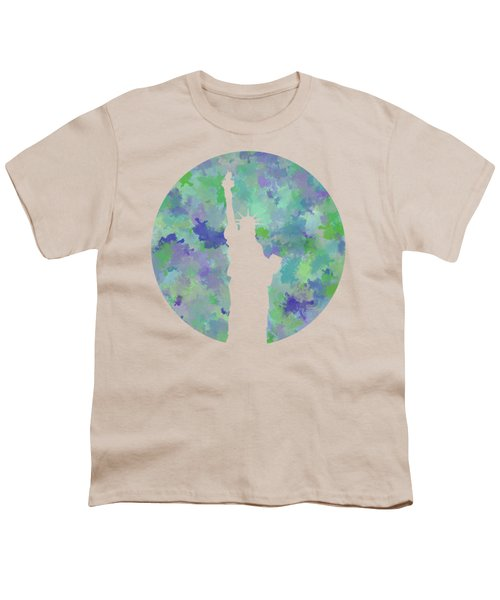 Statue Of Liberty Silhouette Youth T-Shirt by Phil Perkins
