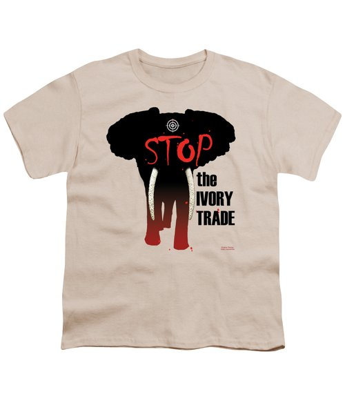 Stop The Ivory Trade Youth T-Shirt by Galen Hazelhofer