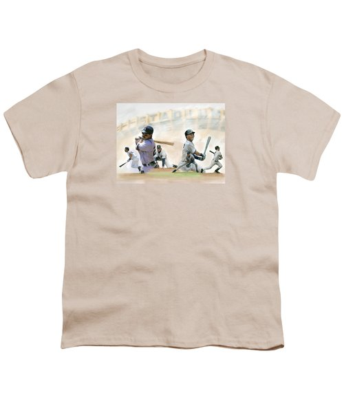 The Captains II Don Mattingly And Derek Jeter Youth T-Shirt by Iconic Images Art Gallery David Pucciarelli