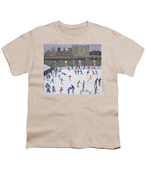Tower Of London Ice Rink Youth T-Shirt by Andrew Macara
