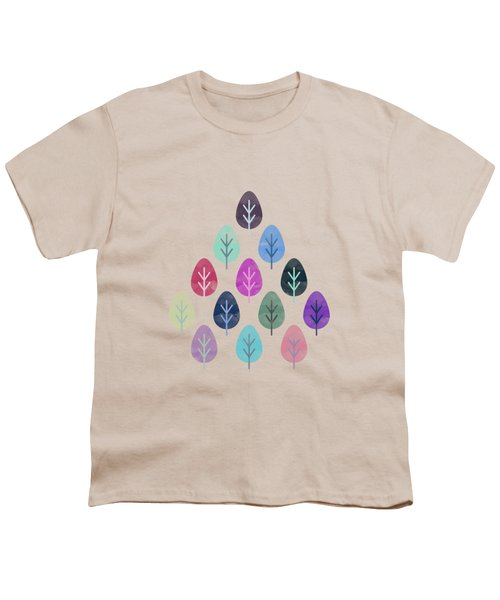 Watercolor Forest Pattern II Youth T-Shirt by Amir Faysal