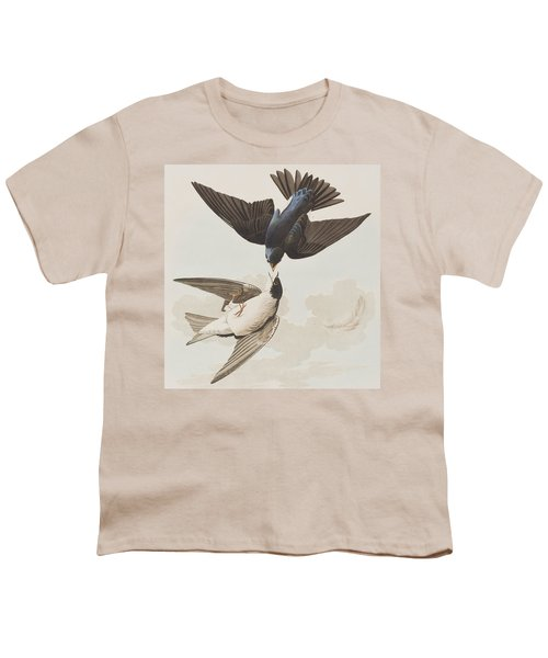 White-bellied Swallow Youth T-Shirt by John James Audubon