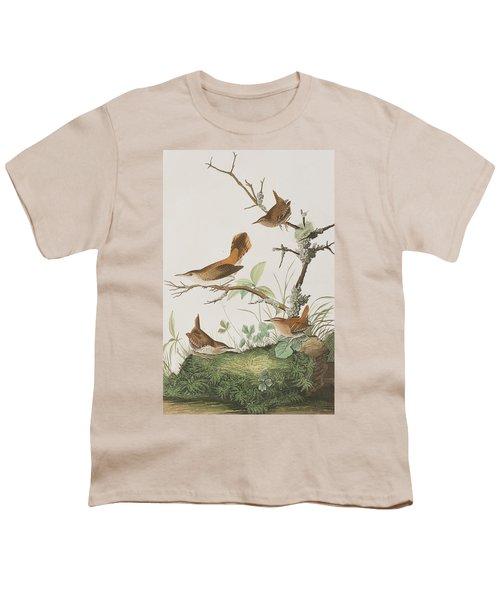 Winter Wren Or Rock Wren Youth T-Shirt by John James Audubon