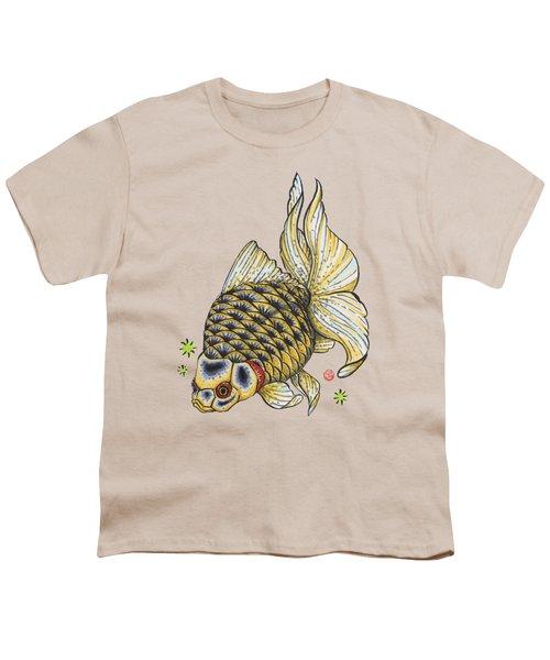 Yellow Ryukin Youth T-Shirt by Shih Chang Yang