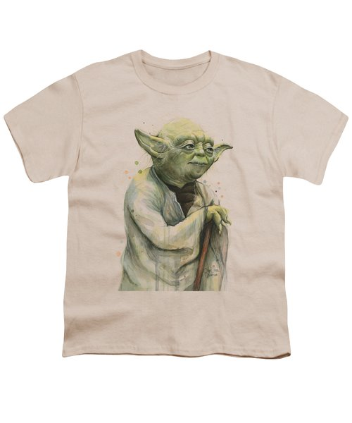 Yoda Portrait Youth T-Shirt by Olga Shvartsur