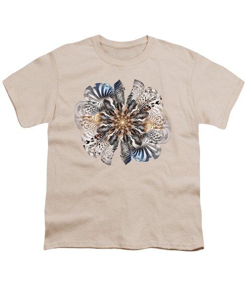 Zebra Flower Youth T-Shirt by Anastasiya Malakhova