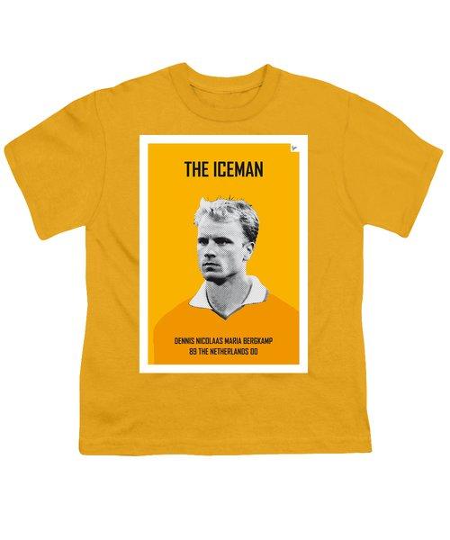 My Bergkamp Soccer Legend Poster Youth T-Shirt by Chungkong Art