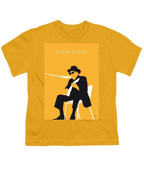 No054 My Johnny Lee Hooker Minimal Music Poster Youth T-Shirt by Chungkong Art