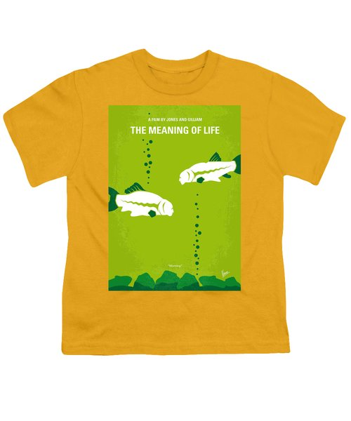 No226 My The Meaning Of Life Minimal Movie Poster Youth T-Shirt by Chungkong Art