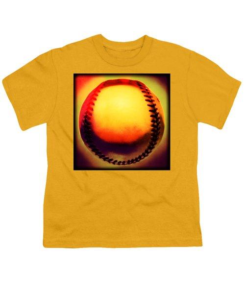 Red Hot Baseball Youth T-Shirt by Yo Pedro