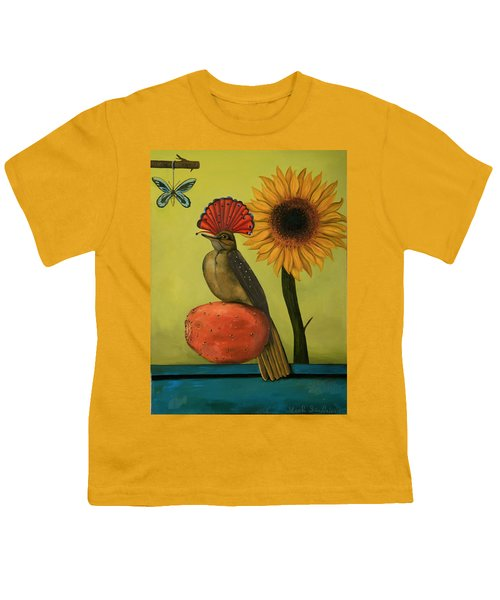 Royal Flycatcher  Youth T-Shirt by Leah Saulnier The Painting Maniac