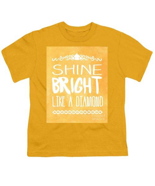 Shine Bright Orange Youth T-Shirt by Pati Photography
