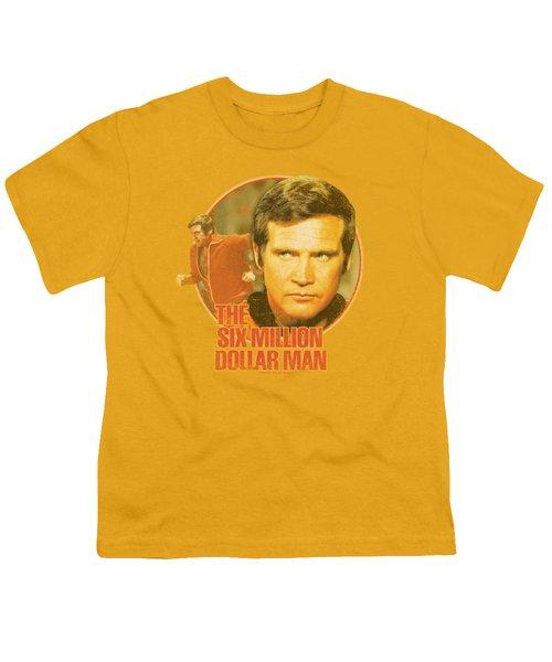 Six Million Dollar Man - Run Faster Youth T-Shirt by Brand A
