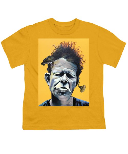 Tom Waits - He's Big In Japan Youth T-Shirt by Kelly Jade King