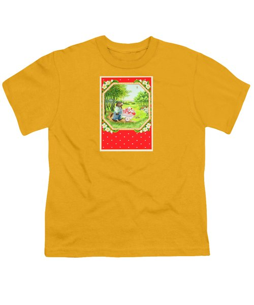 Valentine Delivery Youth T-Shirt by Lynn Bywaters