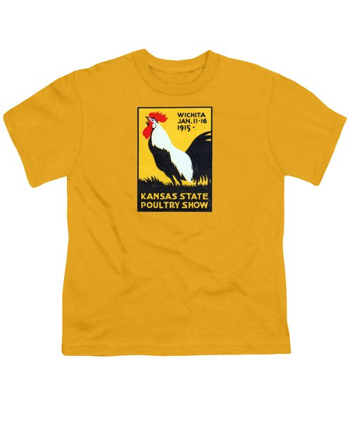 1915 Kansas Poultry Fair Youth T-Shirt by Historic Image