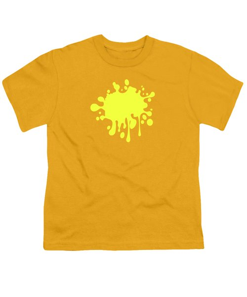 Canary Yellow Solid Color Decor Youth T-Shirt by Garaga Designs