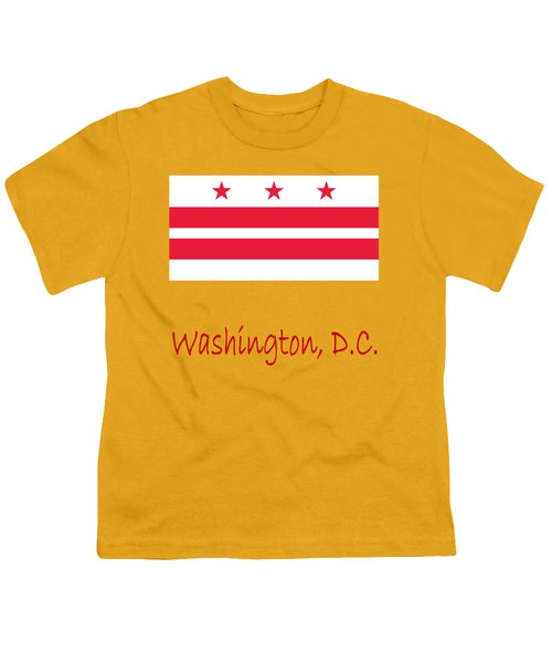 District Of Columbia Flag Youth T-Shirt by Frederick Holiday