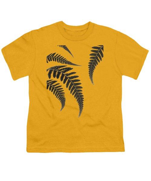 Fern Leaves Youth T-Shirt by Mark Rogan