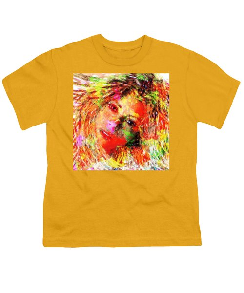 Flowery Shakira Youth T-Shirt by Navo Art