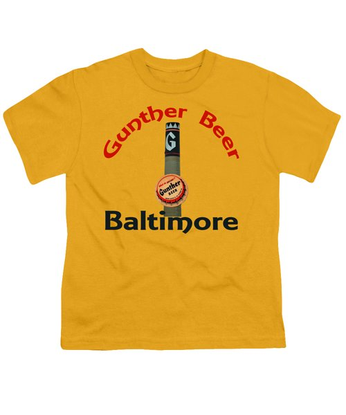 Gunther Beer Baltimore Youth T-Shirt by Jost Houk