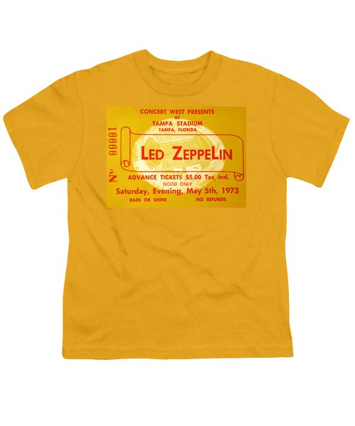 Led Zeppelin Ticket Youth T-Shirt by David Lee Thompson