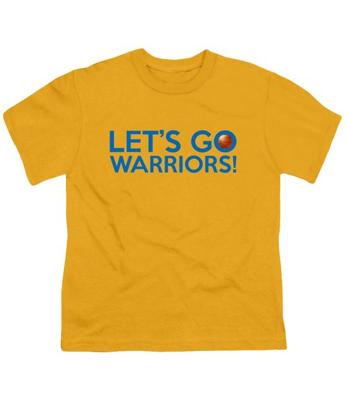Let's Go Warriors Youth T-Shirt by Florian Rodarte