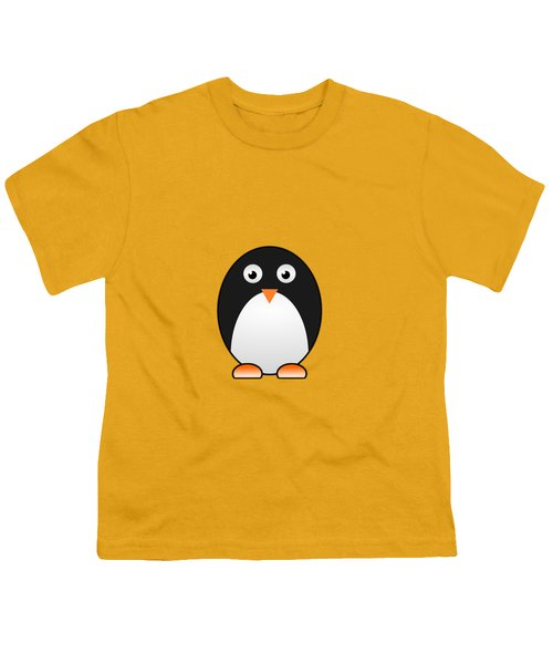 Penguin - Birds - Art For Kids Youth T-Shirt by Anastasiya Malakhova