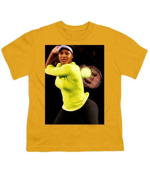 Serena Williams Bamm Youth T-Shirt by Brian Reaves