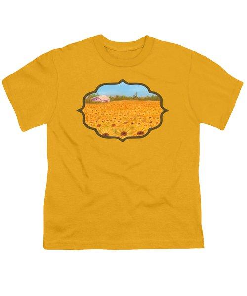 Sunflower Field Youth T-Shirt by Anastasiya Malakhova