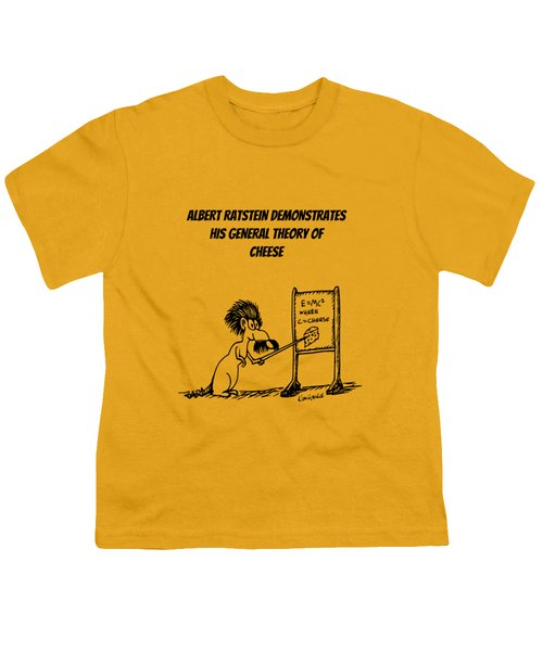 The General Theory Of Cheese Youth T-Shirt by Kim Gauge