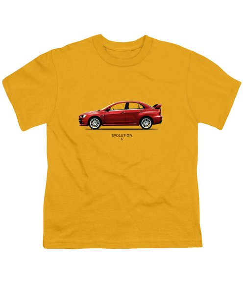 The Lancer Evolution X Youth T-Shirt by Mark Rogan