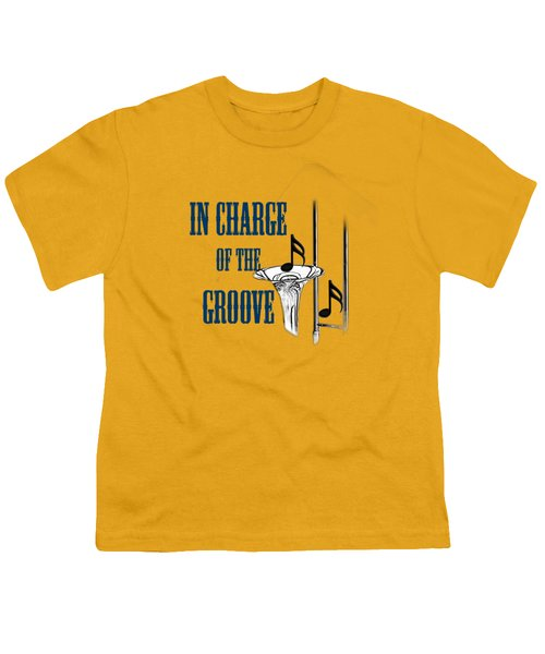 Trombones In Charge Of The Groove 5533.02 Youth T-Shirt by M K  Miller