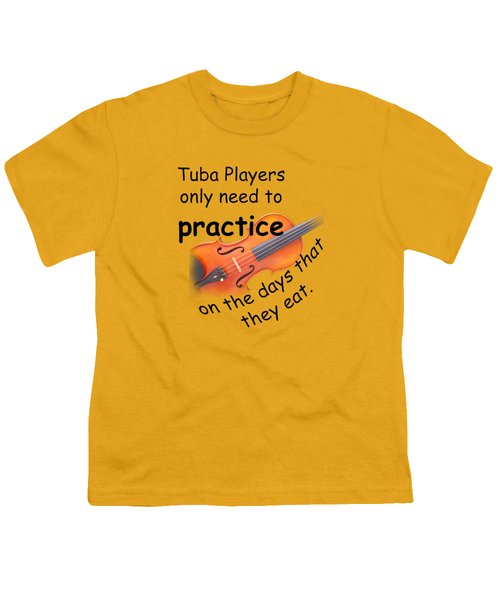 Violin Viola Practice When You Eat For T Shirts  Or Posters 4832.02 Youth T-Shirt by M K  Miller