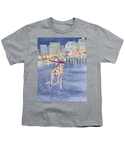 Annabelle On Ice Youth T-Shirt by Rhonda Leonard