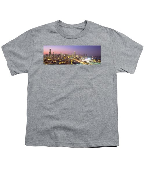 Chicago, Illinois, Usa Youth T-Shirt by Panoramic Images