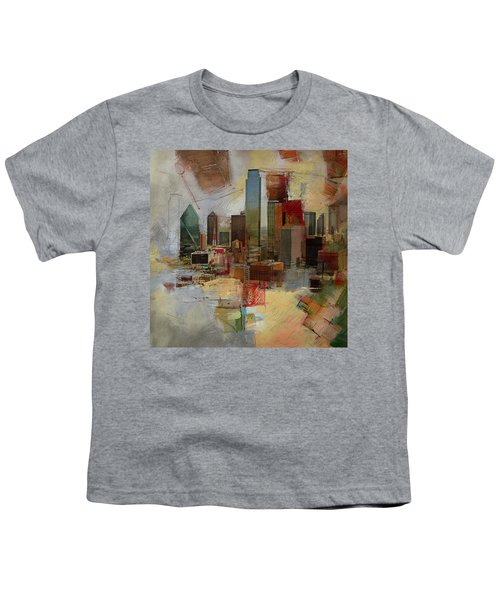 Dallas Skyline 003 Youth T-Shirt by Corporate Art Task Force