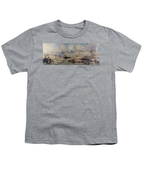 Design For The Thames Embankment Youth T-Shirt by Thomas Allom