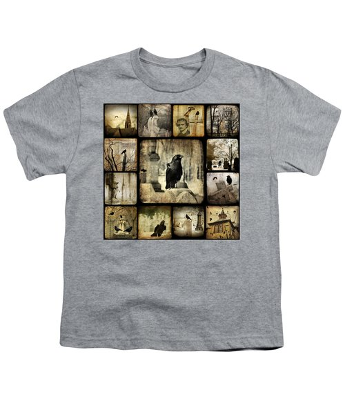 Gothic And Crows Youth T-Shirt by Gothicolors Donna