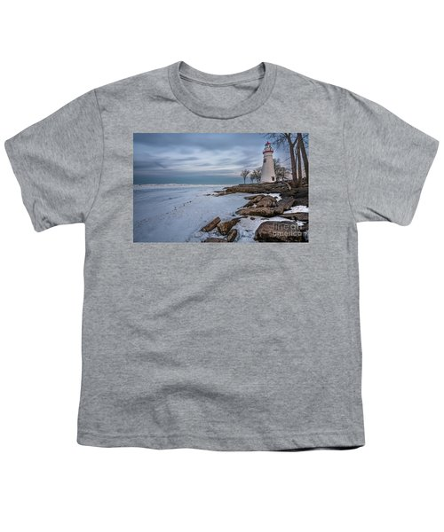 Marblehead Lighthouse  Youth T-Shirt by James Dean