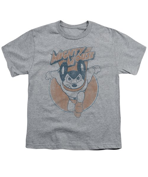 Mighty Mouse - Flying With Purpose Youth T-Shirt by Brand A