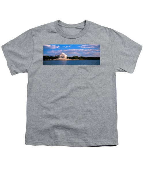 Monument On The Waterfront, Jefferson Youth T-Shirt by Panoramic Images