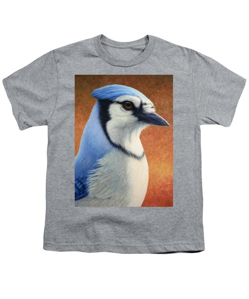 Portrait Of A Bluejay Youth T-Shirt by James W Johnson