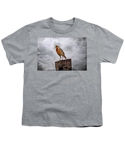 The Meadowlark's Song Youth T-Shirt by Elizabeth Winter